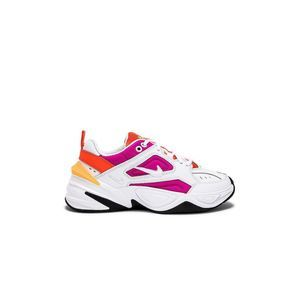 Nike M2k Tekno Leather Textile Lace Up Sneaker